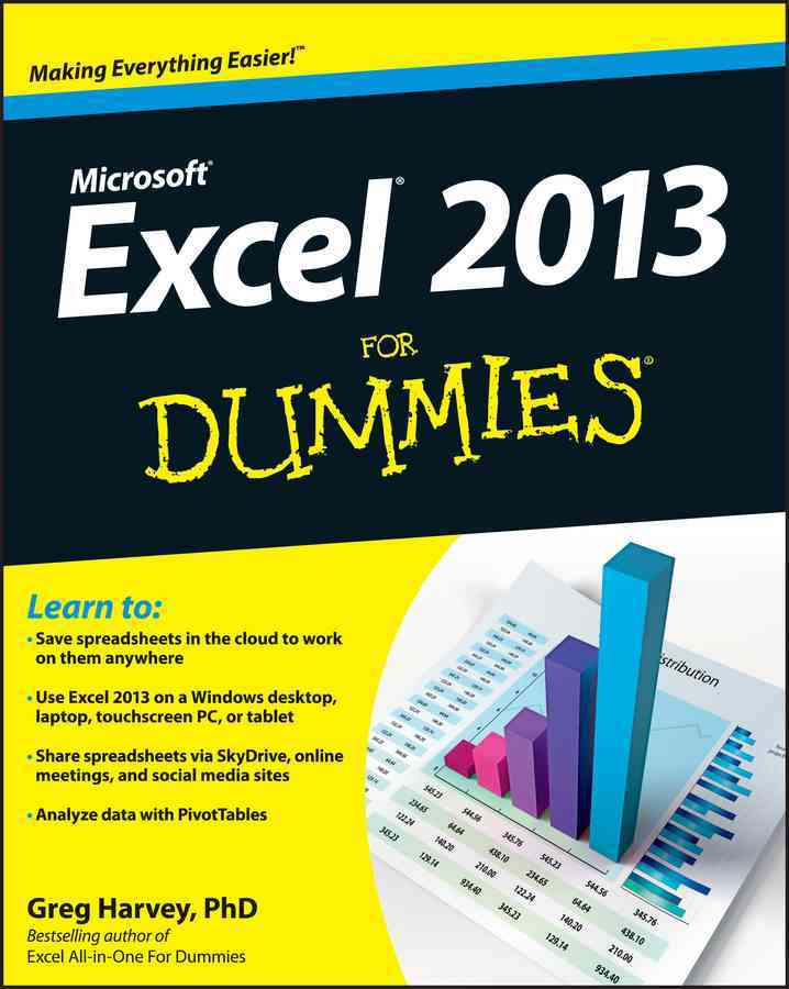 Excel 2013 for Dummies By Harvey, Greg